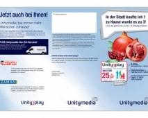 UnityMedia Broşür Tasarımı (Ön) - Almanya