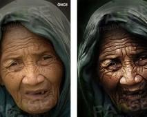 Yaşlı Kadın İllüstrasyon (Before - After)