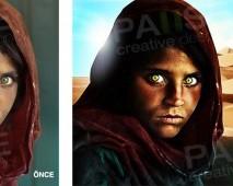 Afgan Kızı Manipülasyon (Before - After)