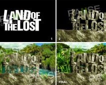 Land of The Lost Text Effect Manipülasyon (Before - After)