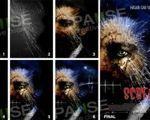 Scream Film Afiş Tasarımı (Before - After)