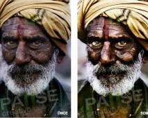 Hindu İllüstrasyon (Before - After)