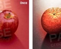 Portakal ve Elma İllüstrasyon (Before - After)